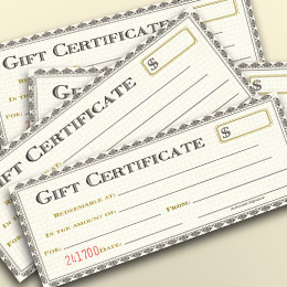 Email The Sprague House for Gift Certificate